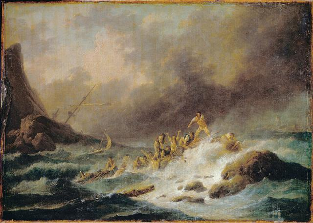 Claude Joseph Vernet - A Shipwreck - Public Domain - click for large original